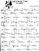 Christmas Time Is Here Sheet Music.Charlie Brown Christmas Time Is Here Free Downloadable