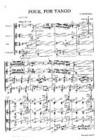 Astor Piazzolla - Four for Tango - Free Downloadable Sheet Music